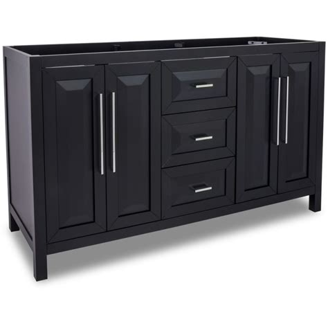 60 inch vanity base cabinet only jeffrey van101d 60 black cade contempo