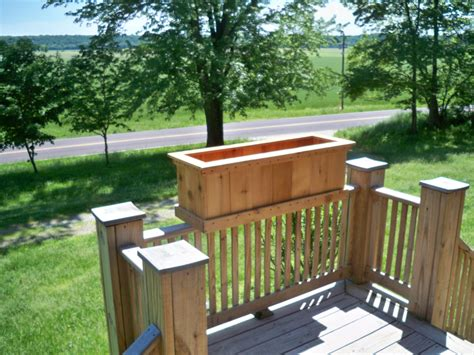 Planter Box Deck by Cedar Planter Deck Planter Large Cedar Deck Planter Garden