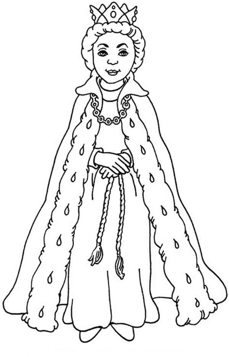 queen clipart coloring page pencil and in color queen