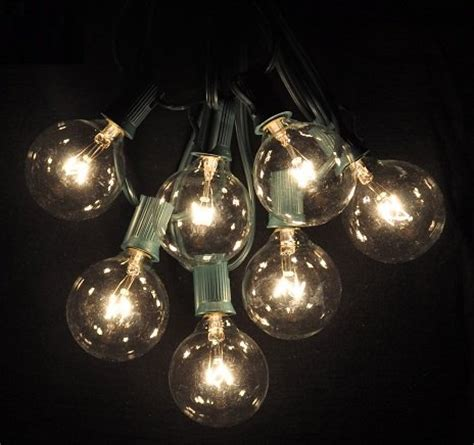 25 foot globe patio string lights set of 25 g50 clear