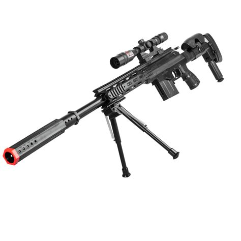 Kaos Airsoft Dual Sniper p2668 tactical airsoft sniper rifle with scope and bipod