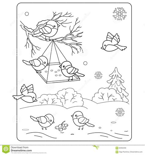 coloring pages birds in winter coloring page outline of cartoon birds in the winter