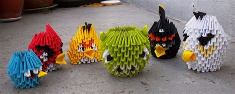 Origami Angry Birds - 3d origami paper 30 amazing modular character crafts