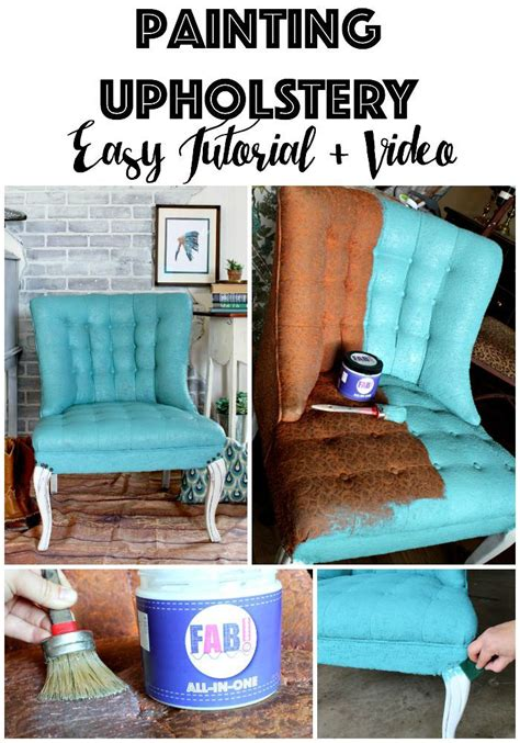 Painting Upholstery by Painting Fabric Upholstery Using New Product Fab That