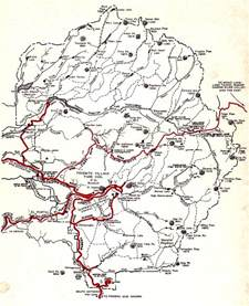 map yosemite california self guiding auto tour of yosemite national park 1956
