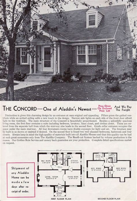 1940 aladdin kit homes the rockport old but soo cute 1940 aladdin kit homes the concord vintage house plans