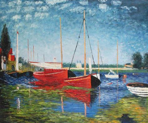 monet boats at argenteuil claude monet red boats at argenteuil one of