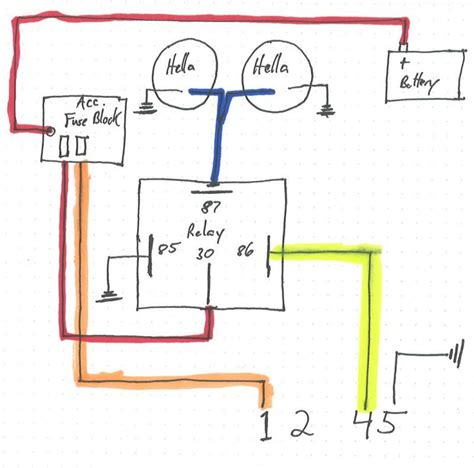 for hella road lights wiring diagram used road