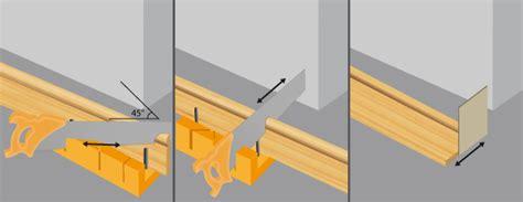 Couper Angle Plinthe by Comment Poser Des Plinthes En Bois Ooreka