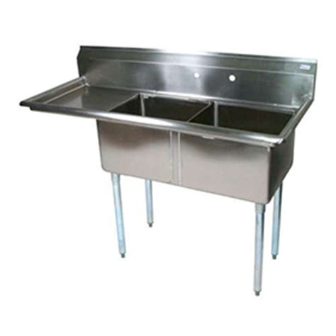 bk bks 2 18 12 18l two compartment sink commercial