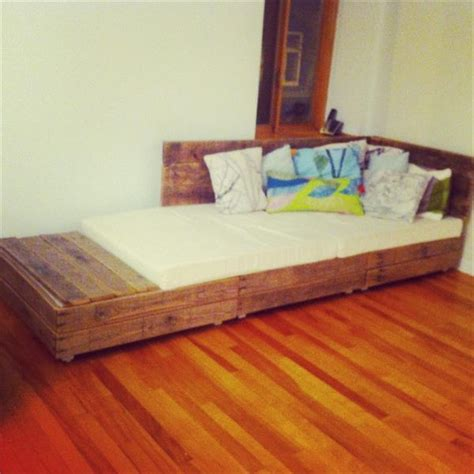 diy wood pallet bed different diy wooden pallet sofa bed with cushions pallets designs