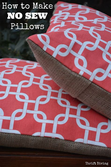 How To Make A Throw Pillow Without A Sewing Machine by Get 20 Pillows Ideas On Without Signing Up