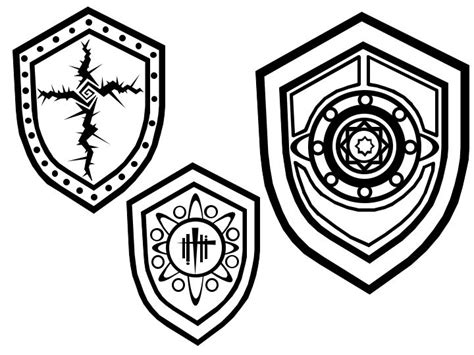 some shield tattoos by bleedingheartsyndrom on deviantart