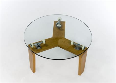 skateboard furniture skateboard furniture for sale round glass coffee tables