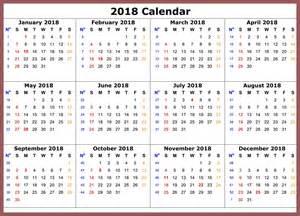 2018 Calendar With Holidays Listed Free Printable Calendar 2017 December 2016