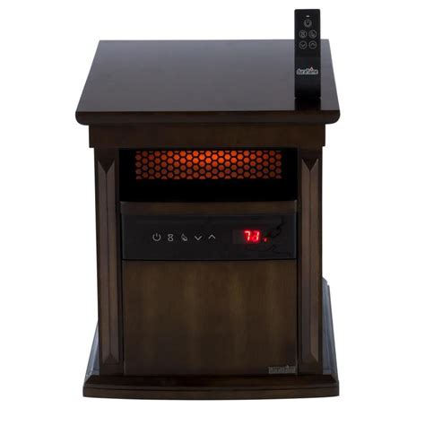 cabinet heater with thermostat shop duraflame 1500 watt infrared quartz cabinet electric
