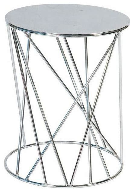 Silver End Table by Sold Out Geometric Silver End Table 150 Est Retail
