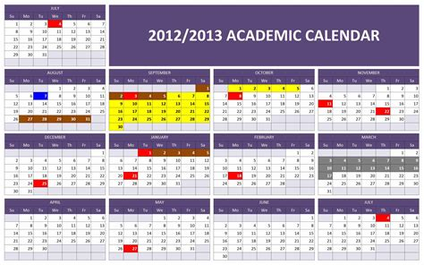 college calendar template search results for bryant 2013 academic