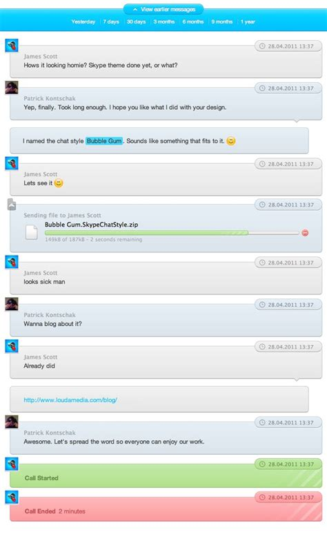 Find On Skype To Chat With Gum Skype Chat Style By Capngoat On Deviantart