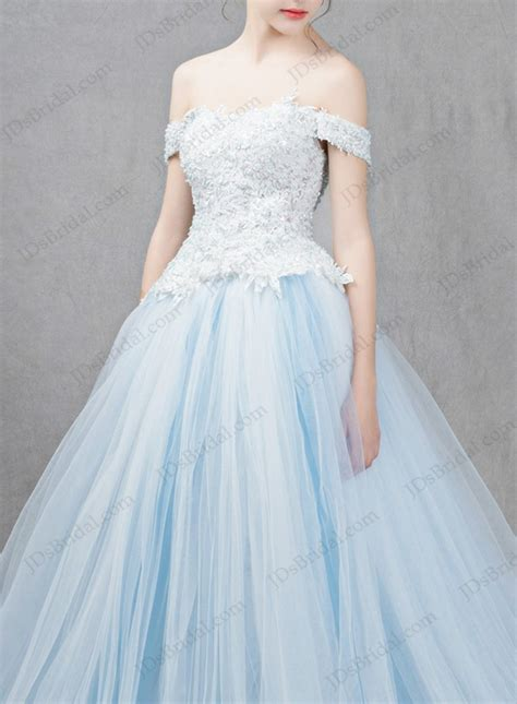 bright color dresses is041 light blue colored princess gown wedding