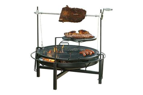 pit grill combo pit design ideas