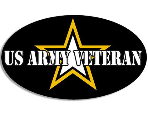 Us Army Email Address Lookup 3x5 Inch Oval Us Army Veteran Sticker Logo Decal Vet Soldier Served 2