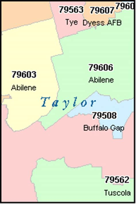 abilene texas zip code map abilene texas tx zip code map downloads