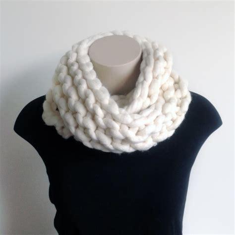 Chunky Knit Scarf chunky knit merino infinity scarf felt