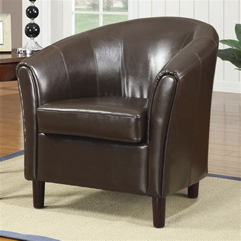 Accent Chair With Brown Leather Sofa by Coaster 900275 Brown Leather Accent Chair A Sofa
