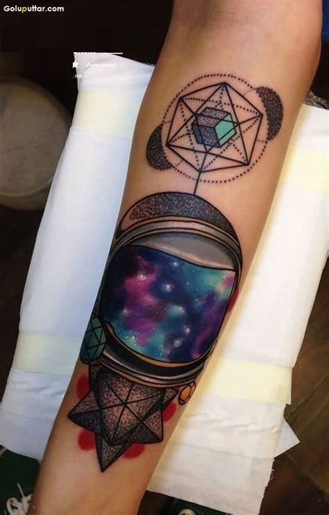 mind blowing universe tattoo design made on sleeve photos