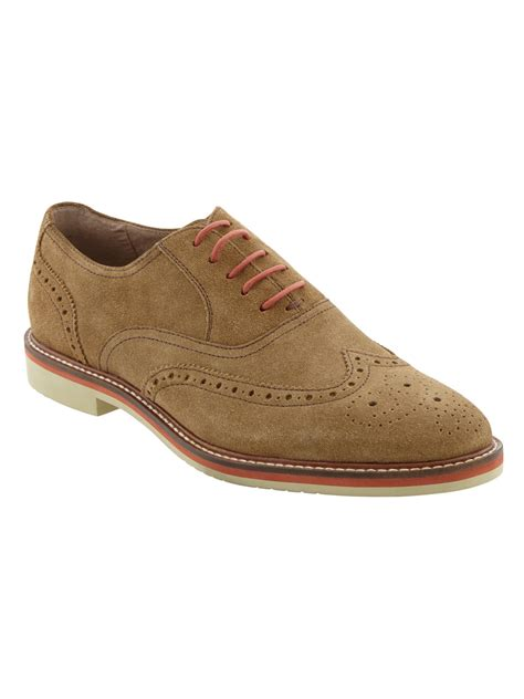 banana republic suede oxford light brown in brown