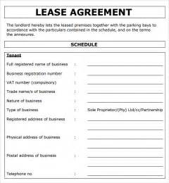 Equipment Lease Agreement Template South Africa by Commercial Lease Agreement 7 Free For Pdf