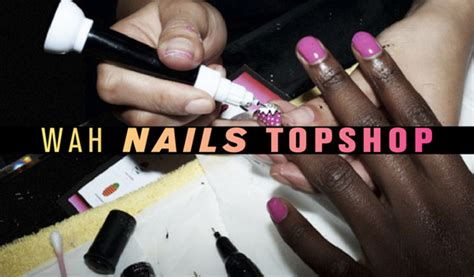 top shop nail bar wah nails topshop manchester fashion finest manchester