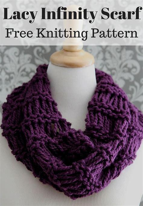 infinity scarf pattern knit free lacy infinity scarf free knitting pattern