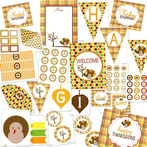 printable party decorations free thanksgiving dinner ideas and free printables