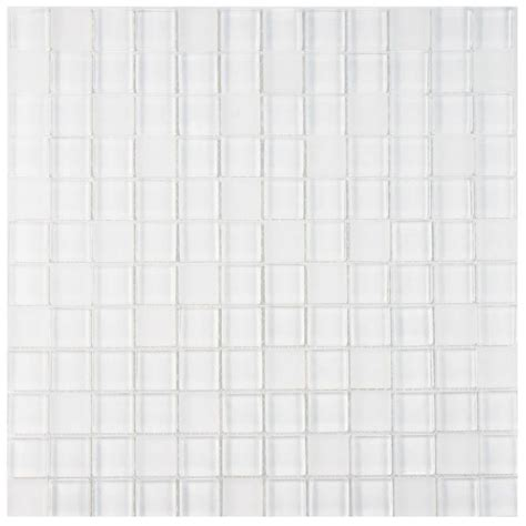 merola tile tessera square ice white melody 11 5 8 in x 11 5 8 in x 8 mm glass mosaic tile