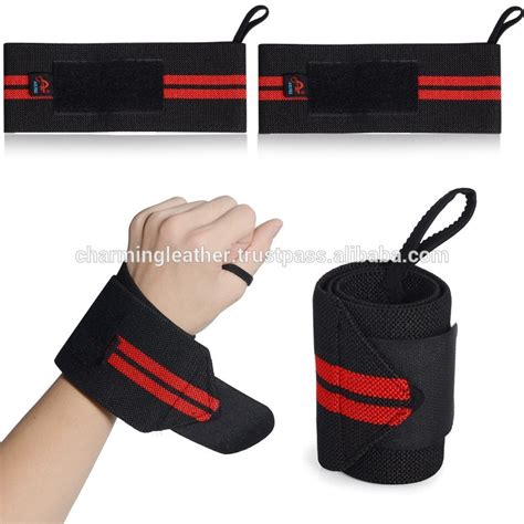 Wrist Wraps Leather Heavy Duty Fitness Weight Lifting Support Best weight lifting elastic heavy duty stretchable wrist