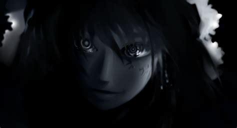 wallpaper anime girl black anime girls black black and white bows dark faces hai