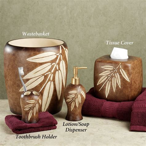 Leaf Bathroom Accessories Bamboo Leaf Bath Accessories