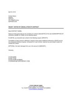 Flat Booking Cancellation Letter Sample Notice Of Cancellation Of Contract Template Amp Sample