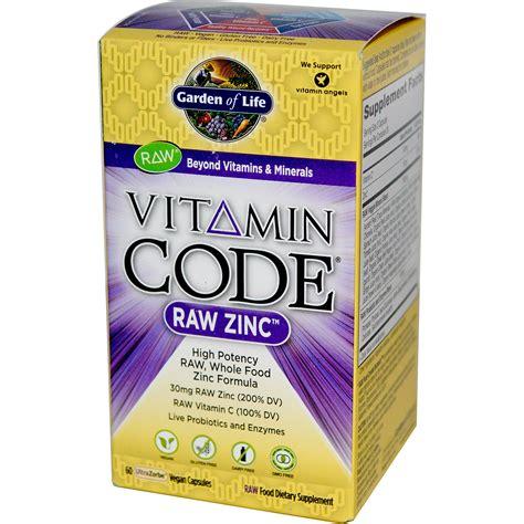 Garden Of Vitamin Code For by Garden Of Vitamin Code Zinc 60 Veggie Caps