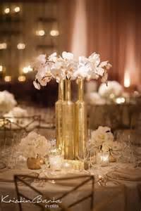 gold centerpieces table 8 diy ideas of wine bottles wedding centerpiece