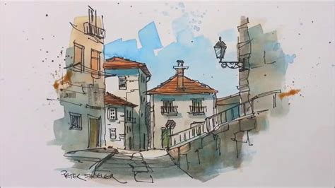 urban watercolor sketching a a pen and wash watercolor in my urban sketching style great for beginners and seasoned artist