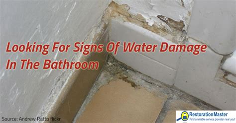 How To Clean A Flooded Bathroom by Looking For Signs Of Water Damage In The Bathroom
