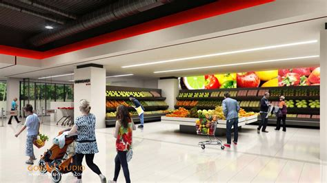 architectural visualization supermarket