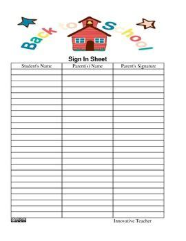 school open house sign in sheet pinterest discover and save creative ideas