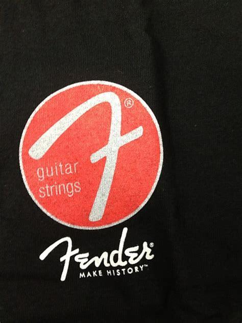 Black T Shirt Fender Logo Guitar S T Shirt Size Xl fender guitar string logo mediul black t shirt new reverb