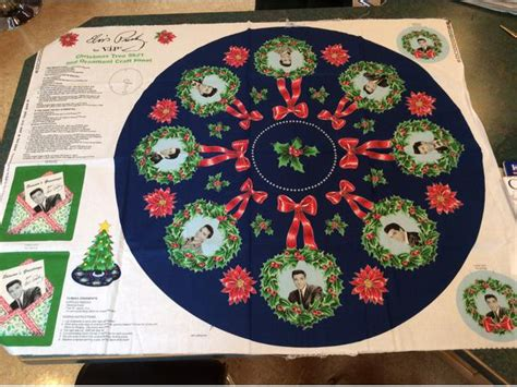 elvis christmas tree skirt elvis tree skirt and ornament craft panel maple bay cowichan