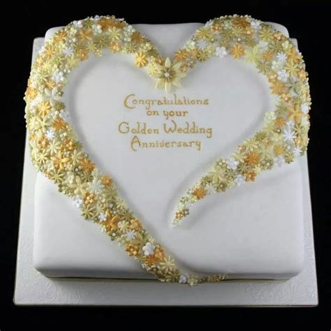 Wedding Anniversary Golden by Golden Wedding Anniversary Cake Cakes