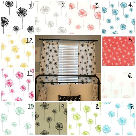 nursery curtain panels dandelion curtain panels nursery curtains coral dandelion